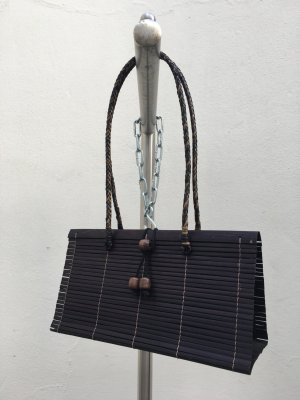 Basket Bag black brown
