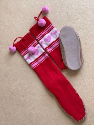 Victoria's Secret Pantoufles-chaussette multicolore laine