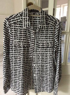 Marie Lund Camicetta a blusa nero-bianco