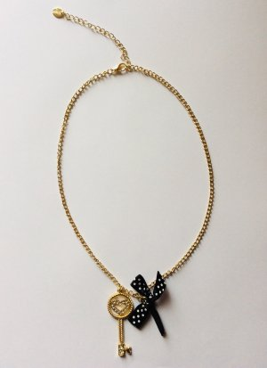 Claires Necklace gold-colored-black