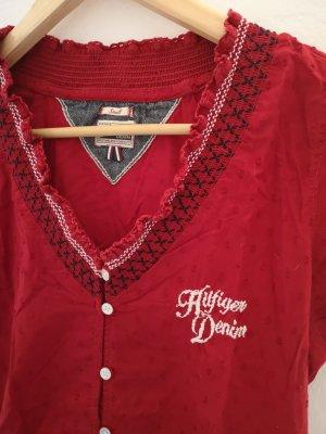 Hilfiger Denim Blusa rosso neon-rosso scuro