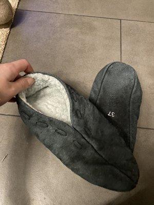 Botas de fieltro gris