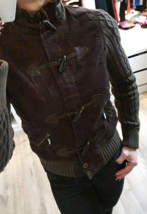 Esprit Chaqueta de lana marrón oscuro-marrón
