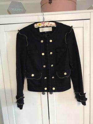 Topshop Naval Jacket dark blue-gold-colored