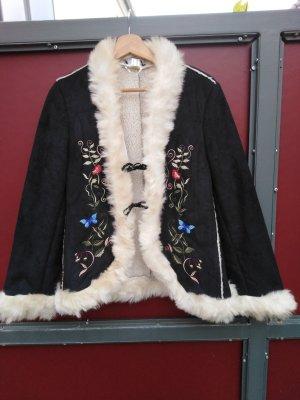 Apart Kurtka zimowa czarny-jasnobeżowy Poliester