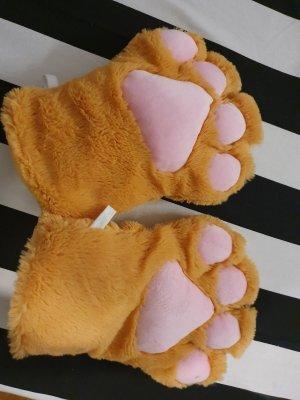 süße Katzentatzen Winterhandschuhe Plüsch