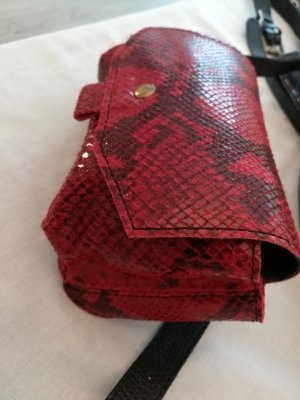 Bumbag brick red leather
