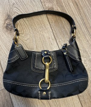 Coach Carry Bag black-gold-colored