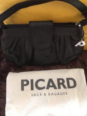 Picard Shoulder Bag black leather