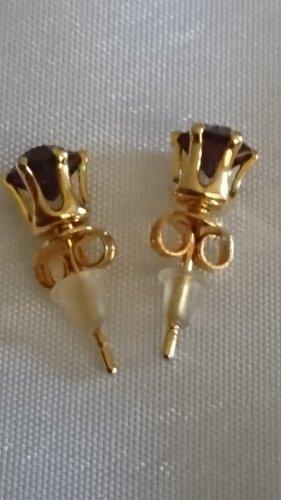 Süße kleine Ohrringe 4mm Ohrstecker Amethyst Stein