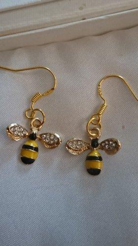 Süße kleine Ohrringe Biene Maja Goldfarbe