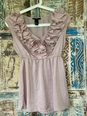 H&M Ruffled Blouse rose-gold-coloured