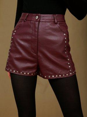 Nasty Gal Pantalón corto de talle alto multicolor Imitación de cuero