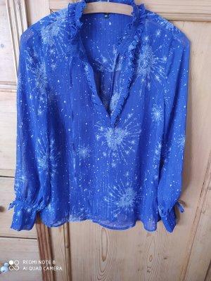 Didi Long Sleeve Blouse white-blue