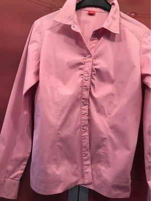 s.Oliver Blouse kraagje roze Katoen
