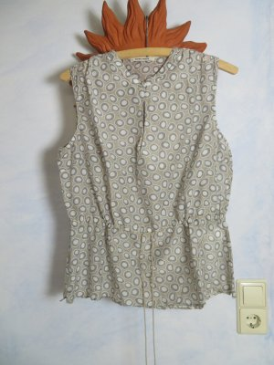 süße More&More Seiden Bluse - Größe M - mit Bubble Muster Kreise 100% Naturfaser Schößchen