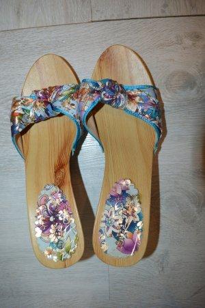 Heel Pantolettes multicolored