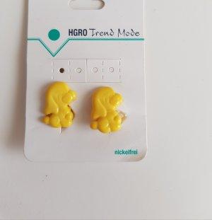 Pendientes de clip amarillo