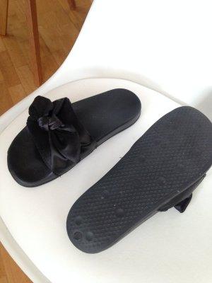 Platform High-Heeled Sandal black synthetic material