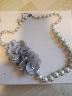 Bijou Brigitte Collana di perle grigio chiaro-grigio