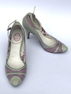 SÜße Retro Pumps von Killah Miss Sixty Gr 39 grau rosa/lila Vintage Blogger