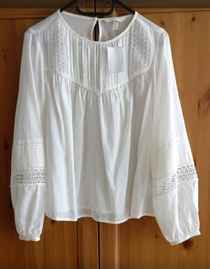 H&M Blusa in merletto bianco