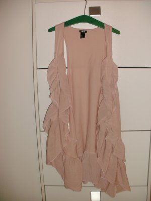 H&M Fringed Vest pink-light pink cotton