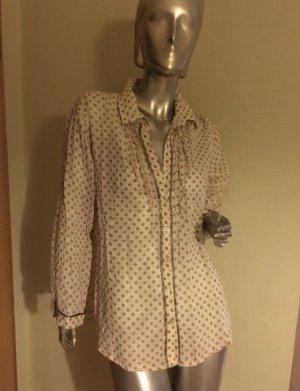 Emily van den Bergh Ruche blouse lichtbruin-room