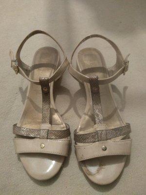 Tamaris Sandalen met bandjes en hoge hakken zilver-room