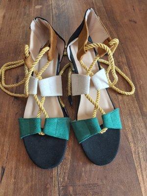 süsse Sandalen # smaragd/schwarz/weiß # D 41 - D 42