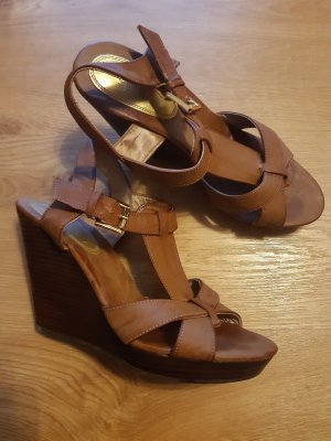 H&M Strapped Sandals gold-colored-brown