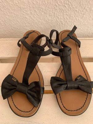 Esprit Outdoor sandalen zwart-beige
