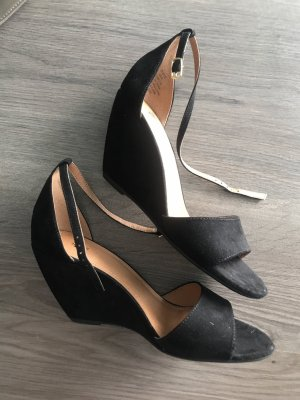 H&M Wedge Sandals black-white