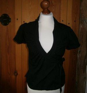 H&M Kopertowa bluzka czarny Bawełna