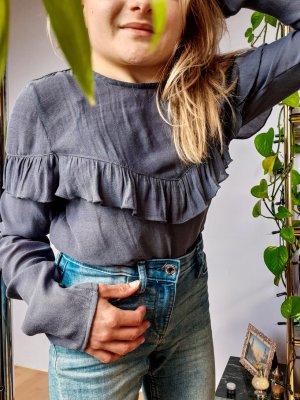 Süße Shirtbluse mit Volants Rüschen elegant