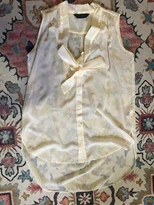 Dorothy Perkins Camicetta lunga giallo chiaro-oro Tessuto misto