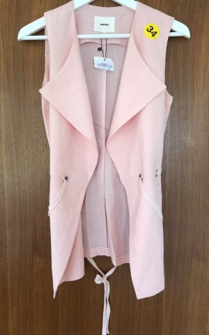 Koton Long Knitted Vest pink