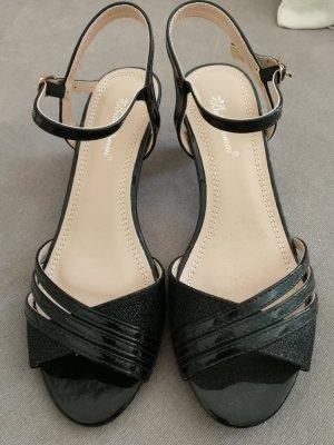 Belle Woman Sandales à talons hauts et lanière noir
