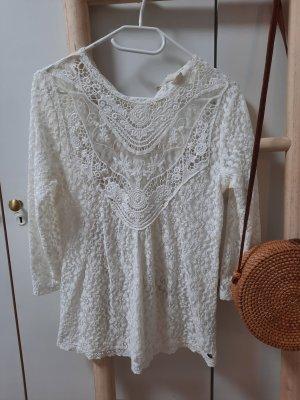 H&M Kanten blouse wit