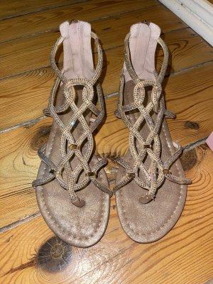Alma en Pena Strapped Sandals nude-dusky pink