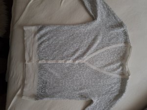 Guess Short Sleeve Knitted Jacket white-silver-colored