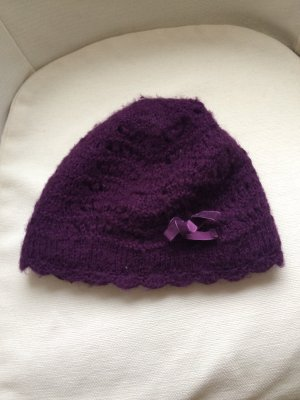H&M Knitted Hat dark violet-blue violet
