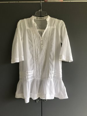 Zara Basic Blusa de túnica blanco