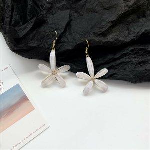 Süße Übergröße statement pastelltöne weiße Blumen Ohrringe aus Acrylic