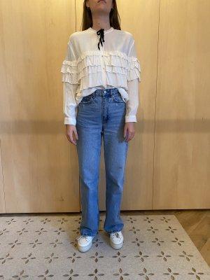 süße und luftige ZARA trf Bluse mit Rüschen