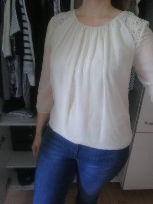 Süße Vero Moda Bluse in creme