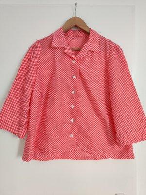 süße vintage Bluse mit Herzenprint