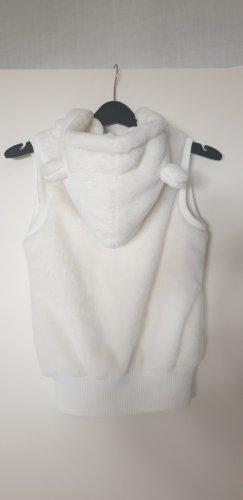 Fishbone Fake Fur Vest natural white