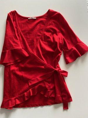 Süße Wickelbluse in rot