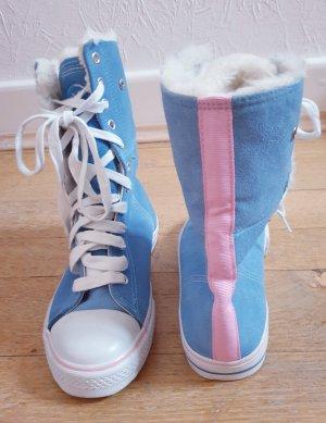 Süße winterliche High-Cut Suede Canvas Schuhe mit kuschelige Futter